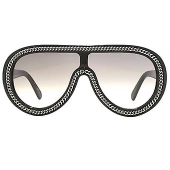 Stella McCartney Falabella Visor Sunglasses In Black Ruthenium
