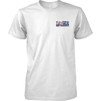 Australia Grunge paese nome effetto bandiera - petto Mens t-shirt Design