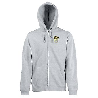 The Royal Inniskilling Fusiliers Embroidered Logo WW1 - Official British Army Zipped Hoodie Jacket