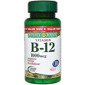Nature's Bounty vitamine B-12 1000 mcg 200 tabletten