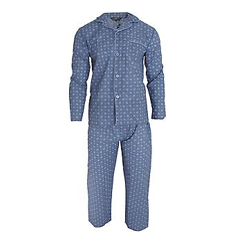 Walter Grange Mens Traditional Paisley Patterned Long Sleeve Shirt And Bottoms Pyjama Set