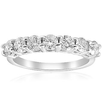 1ct Diamond Wedding  Anniversary Ring 14K White Gold