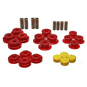 Energy Suspension Control Arm Bushing Set 2.3107R Red Rear Fits: JEEP 1997 - 20