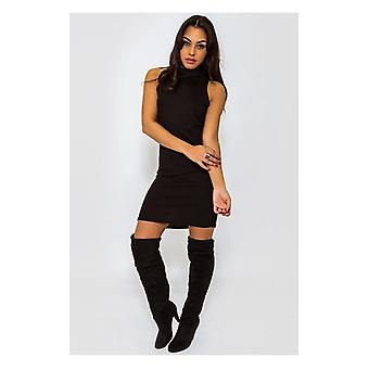 The Fashion Bible Eloise Black Polo Neck Dress