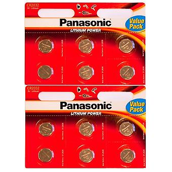 Panasonic CR-2032 Lithium Coin accu - Pack van 12