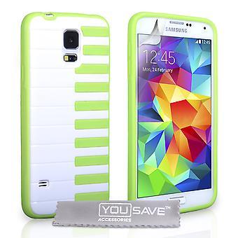 Yousave Zubehör Samsung Galaxy S5 Klavier Gel Fall - Grün