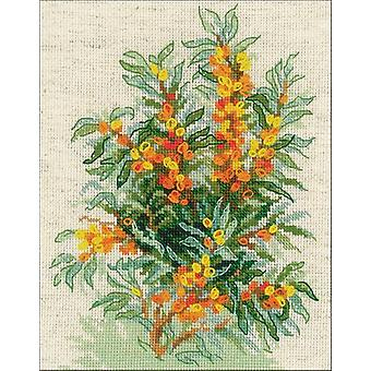Sea Buckthorn Counted Cross Stitch Kit-7
