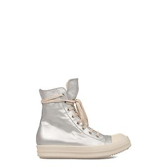 Rick Owens women's DS17S5800CUP181 silver leather Hi Top sneakers