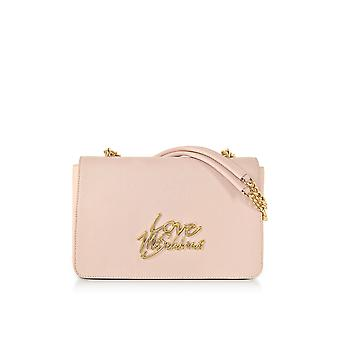 Love Moschino ladies JC4046PP15LE0600 pink faux leather shoulder bag