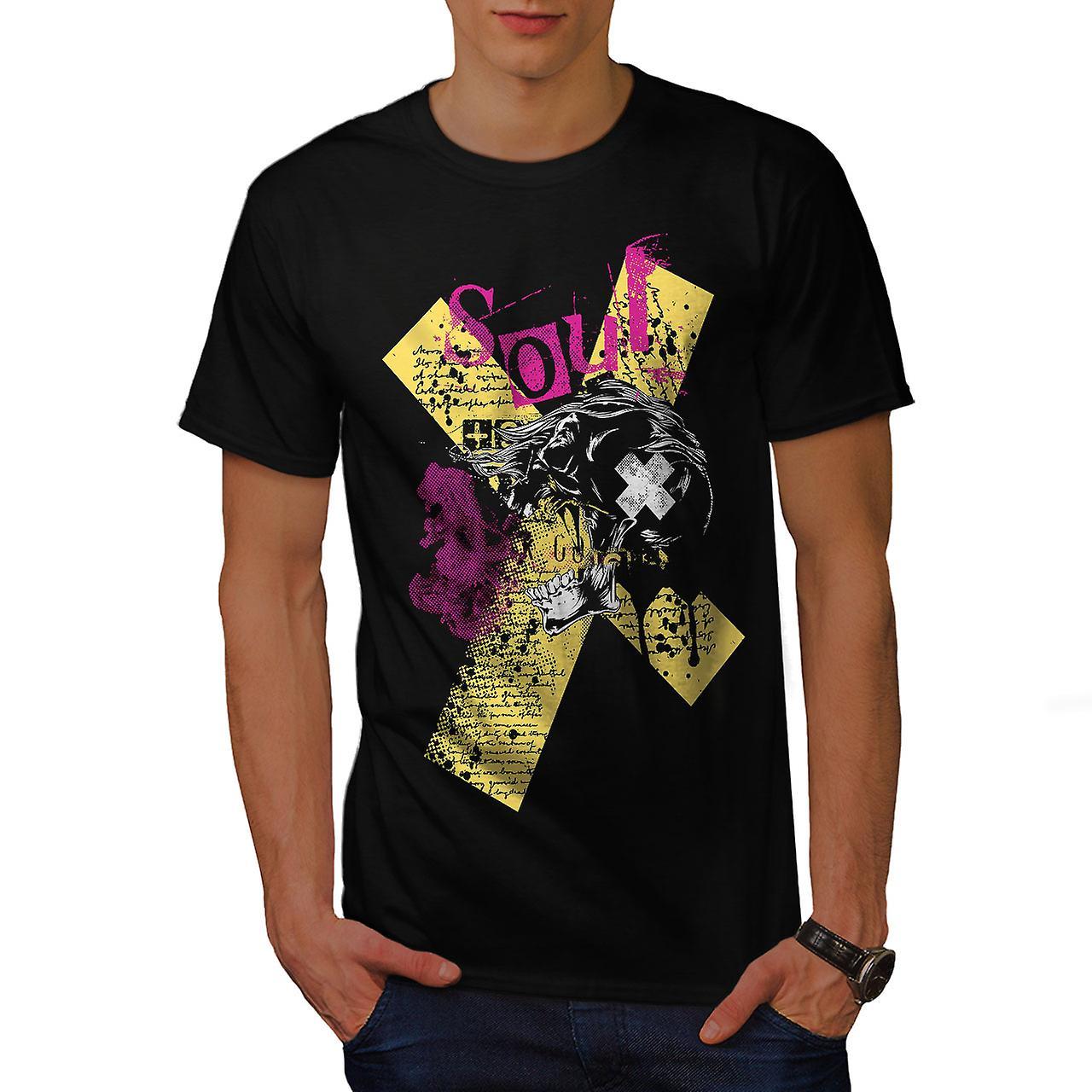Death Horror Cool Skull Men Black T-shirt   Wellcoda