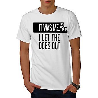 Deje que los perros hombres WhiteT-camisa | Wellcoda