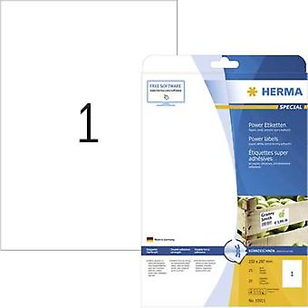 Herma 10911 Labels (A4) 210 x 297 mm Paper White