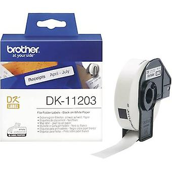 Brother etiketter (Rull) 17 x 87 mm papir hvitt 300 p
