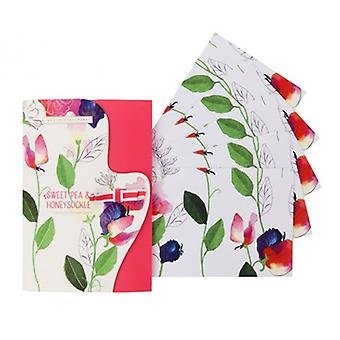 Heathcote & Ivory Sweet Pea & Honeysuckle Fragranced Drawer Liners x5