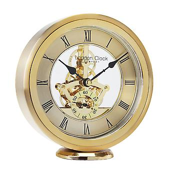 15cm Gold Round Skeleton Mantel Clock