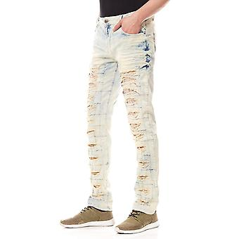 CIPO & BAXX destroyed men's Jeans Blau in used look