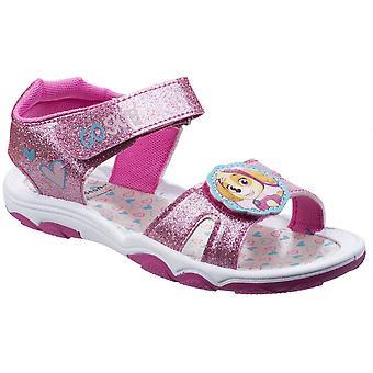 Leomil flickor Skye Glitter justerbar vadderad lätta sandaler
