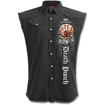 Spiral - 5FDP GAME OVER - Men's Stone Washed Distressed Look Workers Shirt