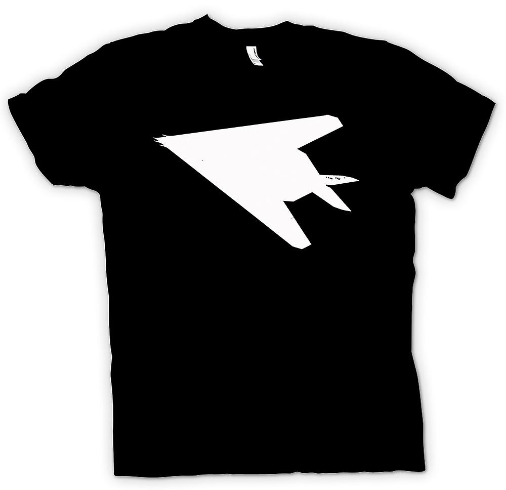 Womens T-shirt - Lockheed F-117 Nighthawk - Stealth Fighter undersidan