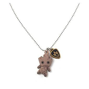 Marvel Kawaii Art Collection Necklace Groot Kawaii 3D Necklace Beige JE562407MVL