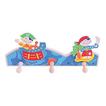 Bigjigs Toys Wooden Coat Hook (Pirate)