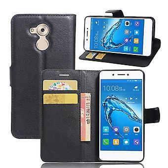 Pocket plånbok premium svart för Huawei honor 6C skydd sleeve fodral cover fodral nya