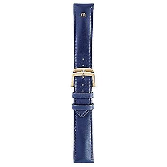 Maurice Lacroix | 20mm Blue Leather Strap Rose Gold | No Buckle ML740-005013 Watch