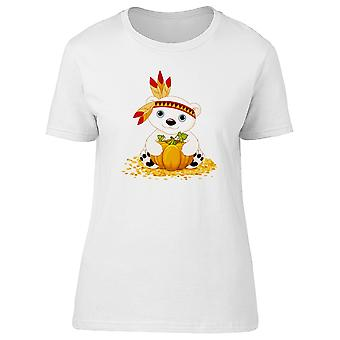 Indian Polar Bear With A Pumpkin Tee Women's -Image by Shutterstock
