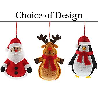 Felt Character Bauble Christmas Tree Decoration - Choice of Designs