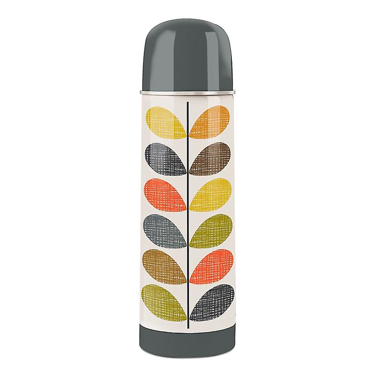 Orla Kiely Scribble Stem Flask by Wild & Wolf - 500ml Capacity