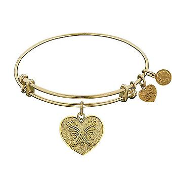 Stipple Finish Brass Angelica Heart Angelica Bracelet, 7.25