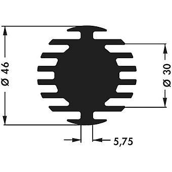 LED heat sink 4 C/W (Ø x H) 46 mm x 15 mm Fischer Elektronik SK 598 15 SA