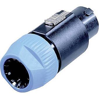 Neutrik NL8FC Audio jack Plug, straight Number of pins: 8 Black, Blue 1 pc(s)