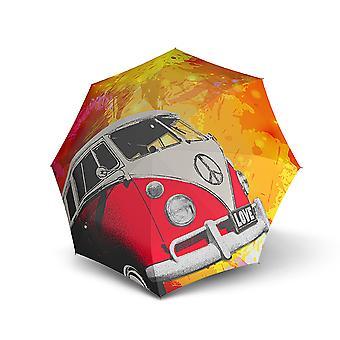 Doppler sztuki nowoczesnej magiczny autobus retro parasol podwójny automatyczny