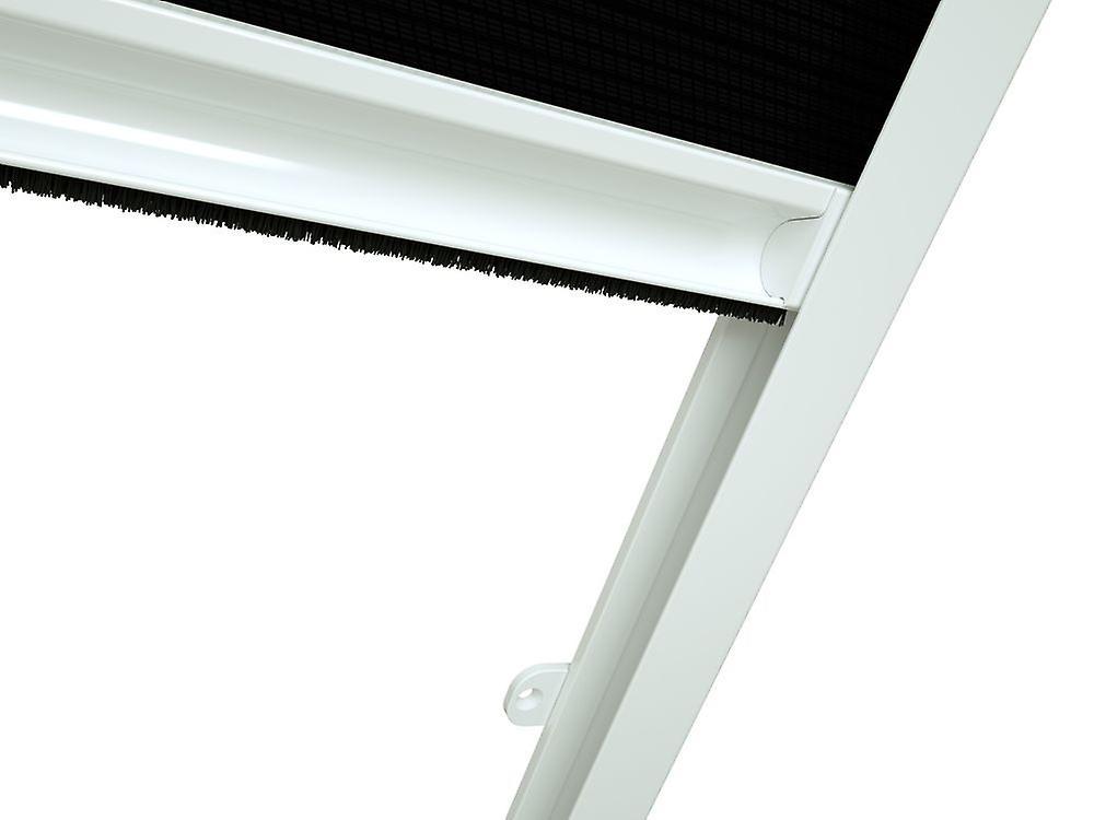Sun roof window sheet 110 x 160 cm in Brown - pleated in black