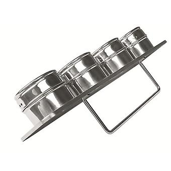 Ibili Stainless Pack 4 Especieros Magneticos 6X4 Cm (Kitchen , Cookware , Spice rack)