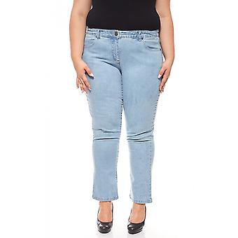 sheego denim stretch jeans with embroidery plus size short sizes blue