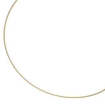 Necklace 925 sterling silver gold gold plated 1.1 mm 42 cm chain necklace