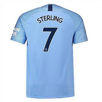 2018-2019 Man City Nike Vapor Home Match Shirt (Sterling 7)