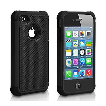 Stuff Certified ® Apple iPhone 5 - Hybrid Armor Case Cover Cas Silicone TPU Case Black
