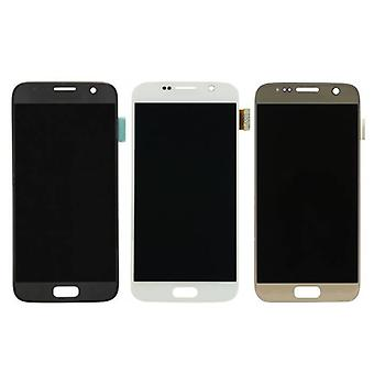 Stuff Certified ® Samsung Galaxy S7 Screen (AMOLED + Touch Screen + Parts) A + Quality - Black / White / Gold