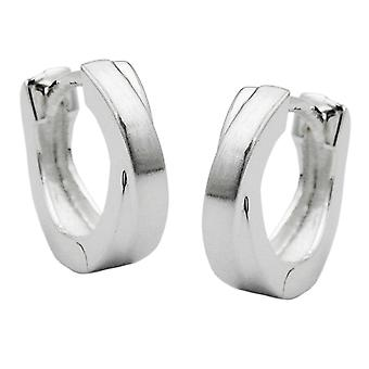 Hoop earrings crossed 12mm silver 925