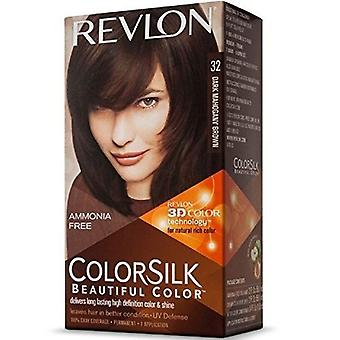 3 X Revlon Colorsilk Ammonia Free Permanent Hair Colour (32 Dark Mahagony Brown)