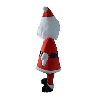 mascot father SPOTSOUND - Christmas, dressed in red and white, with a beard