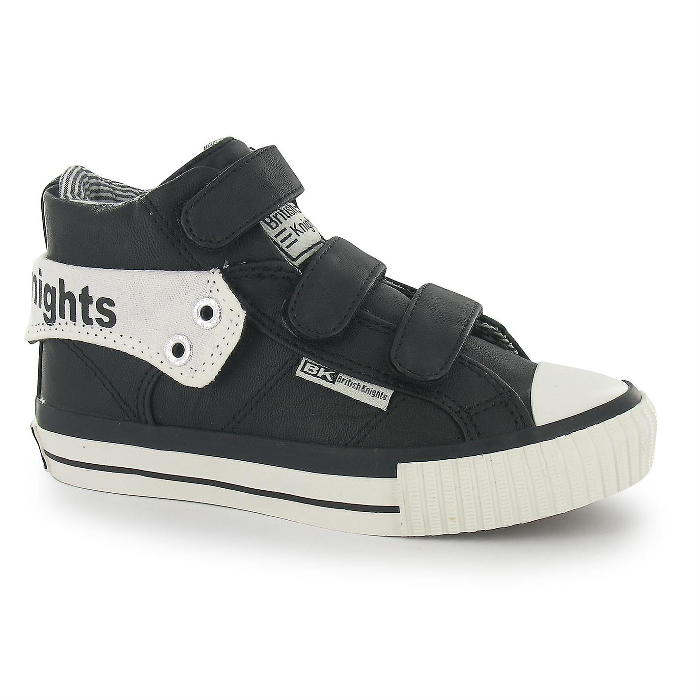 British Knights Kids Childrens Roco Hook And Loop Mid Top Trainers Shoes