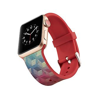 Siliconen klockrem voor Apple Watch 4 3/2/1-44 mm, 42 mm-Cube