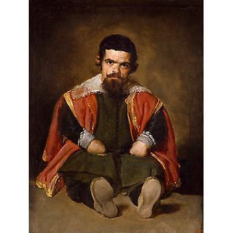 A Dwarf Sitting on the Floor, Diego Velazquez, 50x40cm