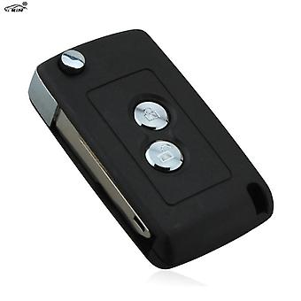 RIN Flip foldable Key Fob Case Shell for Peugeot 206 405 205 106 306 Replacement car key blank