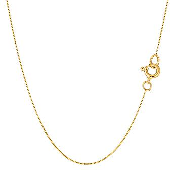 14 k желтое золото классический Зеркало Box ожерелье цепь, 0,45 мм
