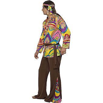 Psykedelisk Hippie Man drakt, brystet 46
